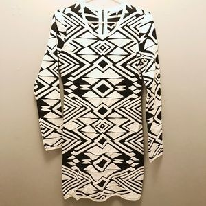 NWT Parker bodycon geometric print dress